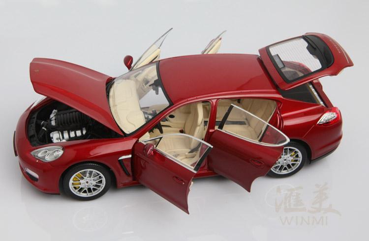 保时捷 panamera 4s 红色 高清图片